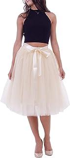 Gonna in tulle da donna Petticoat 50 Rockabilly sottogonna elegante tulle abito con cintura (multistrato).