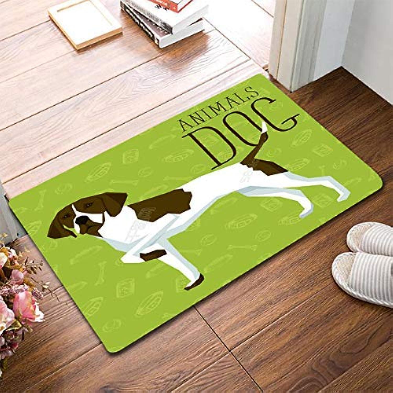 Royare Home Decorations mat Entry Door Door Foot Cartoon Cute Rabbit Anti-Slip mat Bathroom Floor Bedroom Living Room (color   Grass Green, Size   40  60cm) (color   Grass Green, Size   40  60cm)