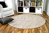 alfombra pelo corto redonda
