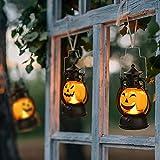 Kürbis Licht - 3 Stk, Vintage Kürbis laterne, Tragbare Kürbis Led, Halloween Deko Kürbis Beleuchtet.(Dauer 72H/Stk) - 2