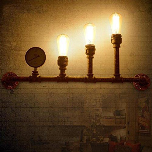 Nordic Rétro Style Industriel Lampe Murale En Fer Forgé Mur Lampe Loft Restaurant Bar Décoration Murale Lampes, Source de Lumière E27 * 3, Taille 80 * 40 cm