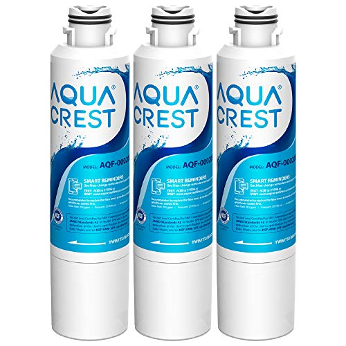 AQUACREST DA29-00020B Samsung Water Filter for Refrigerator, Replacement for DA29-00020A/B, Haf-Cin/Exp, DA29-00020B-1, RF25HMEDBSR, RF28HMEDBSR, RS25J500DSR&More Models, 3 Carbon Filters