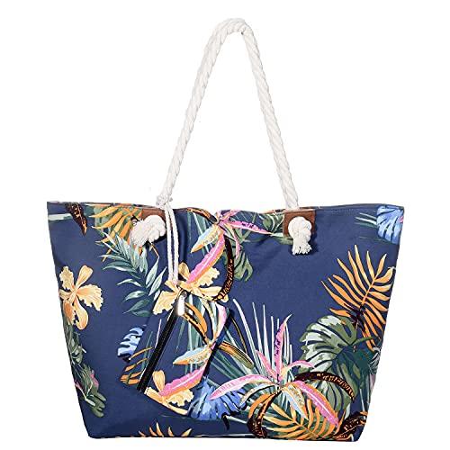 MASADA Grand sac de plage hydrofuge avec fermeture à...