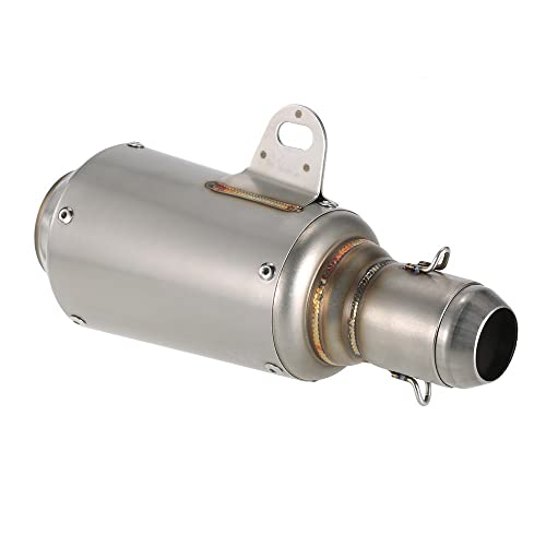 KKmoon 51mm Silenciador Tubo de Escape Escarchado con Malla Cola Universal para Motos ATV