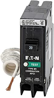 Eaton BRP120AF 20 amps Combination AFCI Single Pole Circuit Breaker, Black