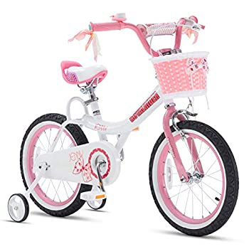 Royalbaby Jenny Princess Pink Girls Bike with Training Wheels and Basket Best Gifts for Girls 12 Inch 14 Inch 16 Inch Avaliable  Pink 14 Inch