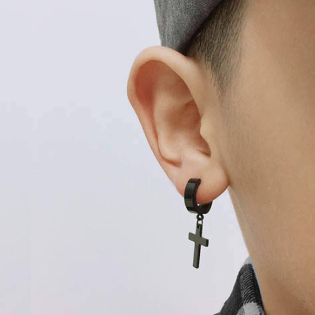 JZZJ 8 Pack Mujer Niña Hombre Aro Pequeño Pendientes in Plata Antialergicos Acero Inoxidable Piercing Negro-Tone Plata-(Negro): Amazon.es: Hogar