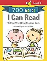 700 Words I Can Read My First Word First Reading Book. Croatian English Picture Book: Full-color childrens books to read basic vocabulary cartoons word step by step for beginners reader level, boys and girls ages 3-6