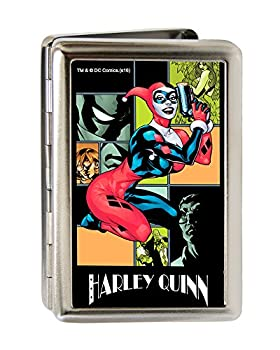 Buckle-Down Business Card Holder - HARLEY QUINN/Night and Day Comic Book Character Blocks - Large