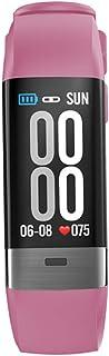 Rastreador de Fitness ECG Pulsómetros Monitor de Sueño Pulsera de Actividad Inteligente Hombre Mujer Impermeable IP67,Rosado