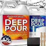 Upstart Epoxy 2' Deep Pour Epoxy Resin Kit DIY - Made In USA - Super Ultra...
