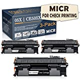 Satink Compatible 05X | CE505X High Yield MICR Toner Cartridge (for Check Printing) Replacement for HP Laserjet P2055x/P2055dn/P2035n/P2035/P2055d/P2055 Printer,3 Pack Black.