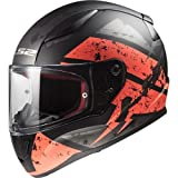 LS2 Casco moto RAPID DEADBOLT MAT Nero Orange, Nero/Oroange, M