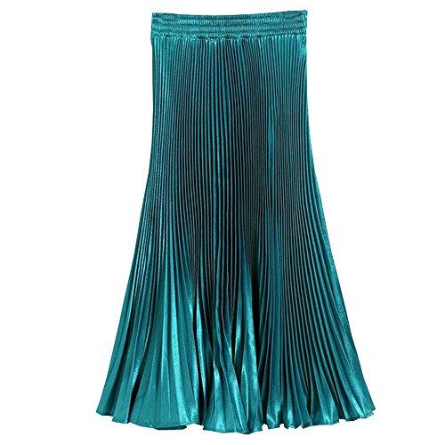 KINDOYO Mujer Verano e Invierno Vestido Informal de Cintura Alta Faldas Plisadas...