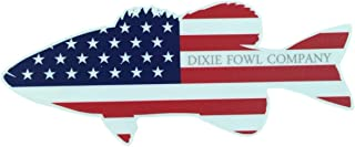 Old Glory Bass - Dixie Fowl Co Decal - 4