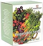 Vegetal Semilla Caja Parachoques Paquete Incluye 35 Diferente Variedades Lechuga Tomate Zanahoria Ensalada Hojas más 1 Gratis Par de Tijeras Jardín, Regalo Ideal, 1X por Thompson y Morgan