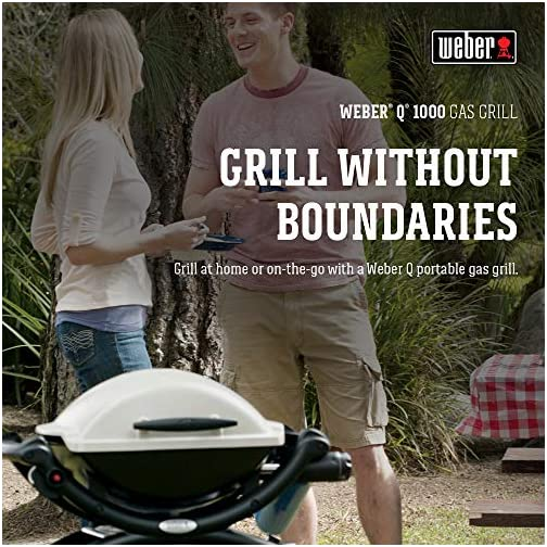 Weber 50060001 Q1000 Liquid Propane Grill,Chrome 5