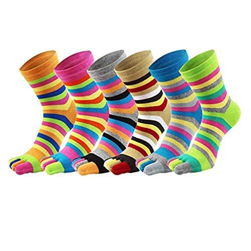 wyhweilong Cinco calcetines del dedo del pie de los hombres Women100% algodón...