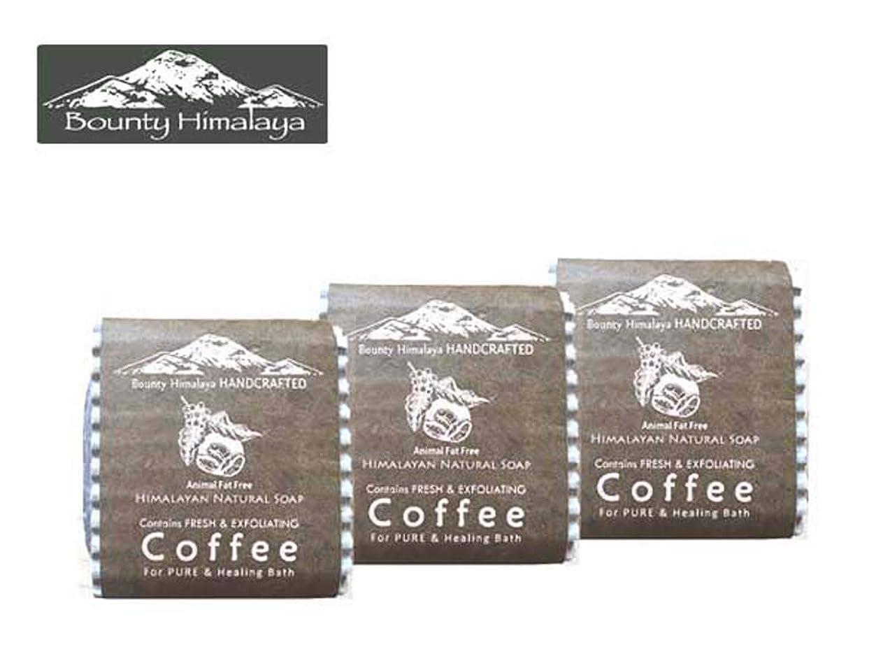 雇う魔法金曜日アーユルヴェーダ ヒマラヤ コーヒー ソープ3セット Bounty Himalaya Coffee SOAP(NEPAL AYURVEDA) 100g