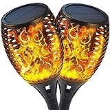 QYK -Luces de antorcha Solar al Aire Libre, Encendido/Apagado...