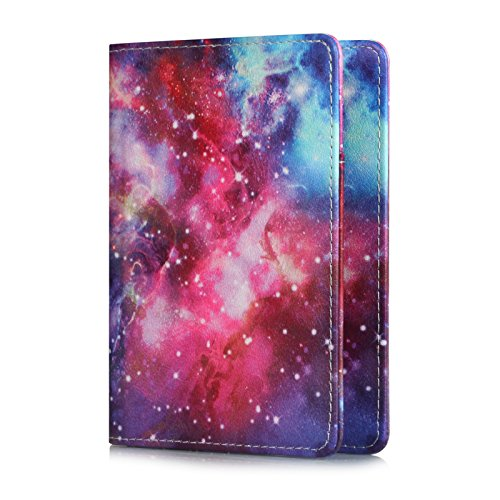 UUcovers Passport Holder Cover Case PU Leather RFID Blocking Card Wallet For Women Men, Milky Way