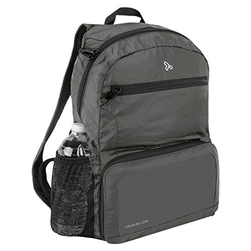 Travelon Anti-theft Packable Backpack, Charcoal