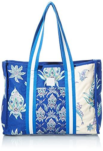 Desigual Fabric Shopping Bag, Borsa shoppering Donna, Blu, U
