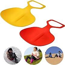 xiaowang 1 ski's voor kinderen en volwassenen, grote ski's, zandboard-speelgoed, butt-pad, gebruikt voor zandslee en gras,...