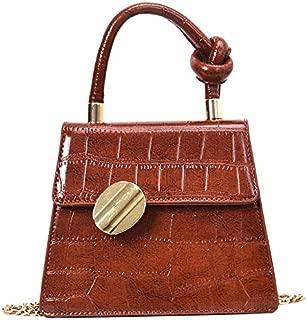 TOOGOO Women'S Crocodile Crossbody Fashion Pu Leather Tote Travel Chain Shoulder Messenger Bag White