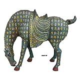 LAOJUNLU Han Dynasty Wrong Oro, Plata Y Bronce Agua Potable Caballo Imitación de bronce antiguo...