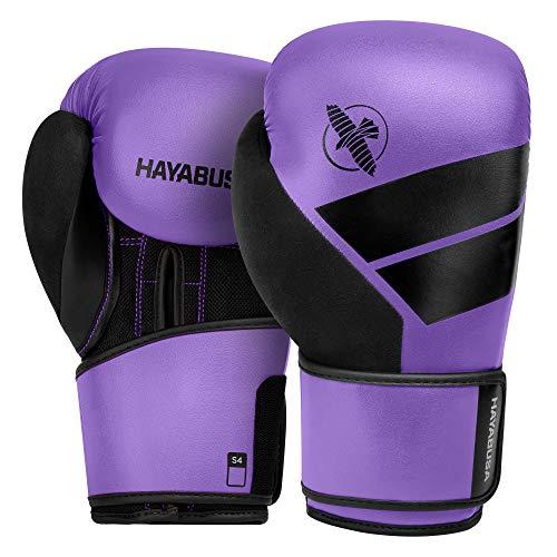 Hayabusa S4 Boxhandschuhe, Boxhandschuhe, Boxhandschuhe, Pad-Handschuhe, Trainingshandschuhe, für Herren, Damen und Kinder (violett, 397 g), M