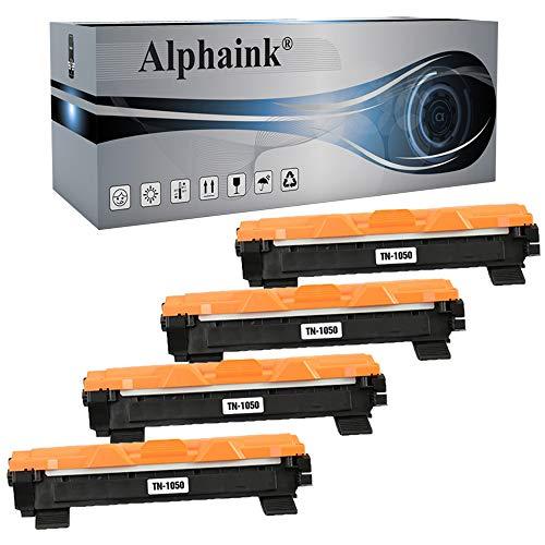 Alphaink 4 Toner compatibili con Brother TN-1050 TN-1000 per stampanti Brother HL-1210W HL-1212W HL-1110 HL-1112 DCP-1510 DCP-1512 DCP-1610W DCP-1612W MFC-1810 MFC-1910W