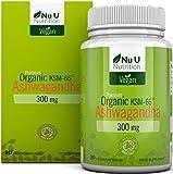 Cápsulas Veganas de Ashwagandha KSM-66 Orgánica de 300 mg   90 Cápsulas - Suministro para 3 Meses   Ashwagandha KSM-66 Orgánica Certificada por la Soil Association   Withania Somnifera Ayurvédica