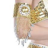 Reefa Bracelet Manchette avec Frange Accessoire pour Sexy Danse Orientale Costume pour Fille Femm,Réglable