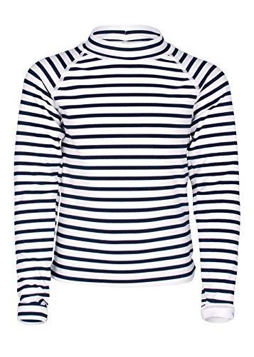 JUJA Sailor - Camiseta de baño para niña (Manga Larga), Color Blanco y Azul, Niñas, S20421-191|4, Blanco, 98-104 cm