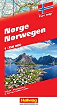 Norway Travel Map - 1:750,000 (English, French and German Edition)