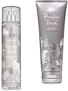 Bath and Body Works - Bonfire Bash - Fine Fragrance Mist and Ultra Shea Body Cream - Full Size – 2019