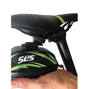 SLS3 Bolsa de sillín pequeña para bicicleta debajo del asiento | bolsas de ciclismo | Bolsas para bicicletas de carretera / montaña | Bolsa de cuña resistente al agua |