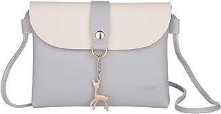 Lanling Kleine Crossbody Geldbörse für Frauen,Leder Umhängetasche Hirsch Crossbody Frauen Handtasche kleine Geldbörse Telefon Tasche für Mädchen