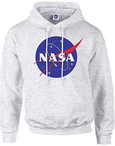 Brands In Limited NASA Classic Insignia Logo Sudadera con Capucha de Mujer, Gris (Sports Grey SpGry), 16 (Tamaño del Fabricante:XXL)