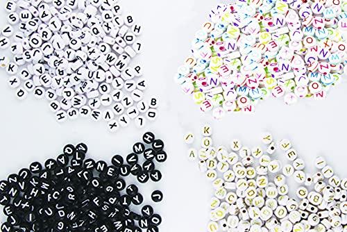 EL GALEON - Abalorio de Letras para Pulseras - Beads Abecedario - Cuentas de Acrilico Abalorios - Bisuteria Accesorios Pulceras - DIY (Letras Basicas)