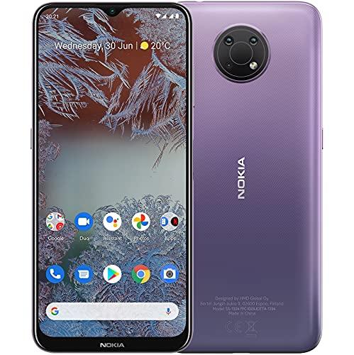 """Nokia G10 Smartphone Skandinavisches Design, Dual-SIM, RAM 3GB, ROM 32GB, bis zu 3 Tage Akkulaufzeit, verbessertes 6,5""""-Bildschirm, Dreifachkamera mit KI-Modi, Android 11 - Dusk"""