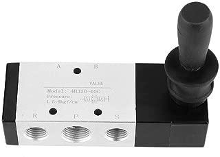 Manual Valve, Pneumatic Control Tool 5 Port 3 Position Hand Lever Valve 0~0.8Mpa(4H330-10)