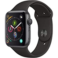 AppleWatch Series4 (GPS, 44mm) - Space Gray Aluminium Case with Black Sport Band