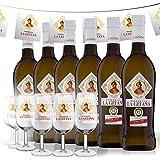 Manzanilla La Gitana - Pack de Feria - 6 Botellas 75 Cl. + 6 Catavinos + Banderines