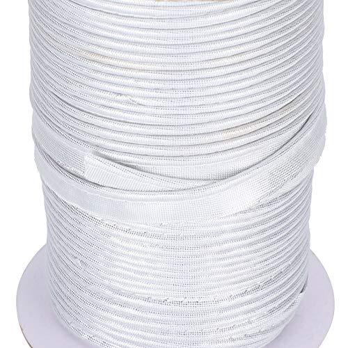 Trenza de coser, rollo de trenza de ribete Aprox. Trenza de bordes sin decoloración de 70yd, para accesorios de adornos de textiles para el hogar(Silver)