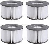 Filtro de repuesto para MSpa Whirlpool,cartucho de filtro de repuesto para piscinas hinchables MSPA,paquete doble,para submarinos y spa calientes,para piscinas hinchables,para jacuzzi Mspa 4 unidades