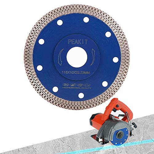 PEAKIT Dry Wet Tile Saw Blade 4 1/2 Inch Porcelain Diamond Blade Ceramic Cutting Disc Wheel for Angle grinder