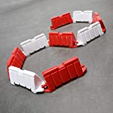 1/24 1/28 Rc Car Drift Track Drift Runway Drift Field Fence for Mini Z WLtoys Car (60pcs【30red30white】)