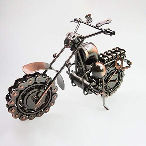 Kaper Go De gran tamaño hierro forjado motocicleta Harley modelo moderno metal artesanía alta gama creativa decoración del hogar 26 cm* 12 cm* 19 cm